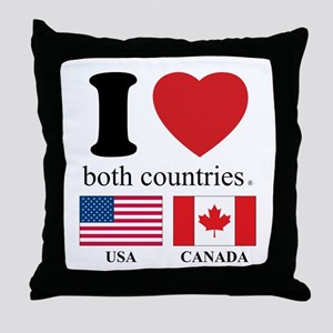 USA-CANADA Throw Pillow